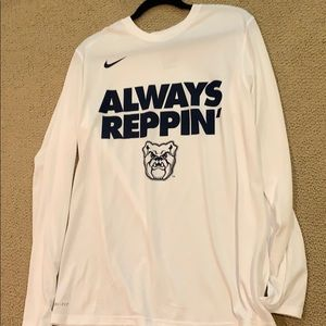 White Nike Butler Long Sleeve Shirt